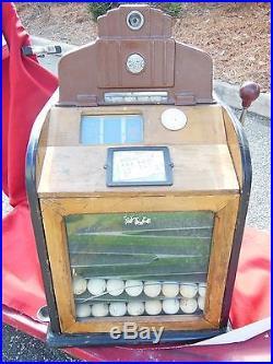 Jennings Sportsman 25 Ct Golf Ball Slot Machine with Escalator Wood 1930's RARE