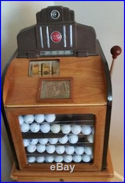 Jennings Sportsman Golf Ball Slot Machine Excellent Condition