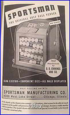 Jennings Sportsman Golf Ball Slot Vender. Never before seen tags. Works/Pays