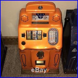 Jennings Standard Chief 711 Antique Slot Machine Restored & Beautiful