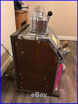 Jennings Sun Chief 25c Slot Machine Antique Rare