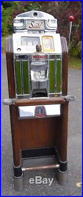 Jennings Super Deluxe Light Up Antique Slot Machine SANDS Casino Las Vegas NV