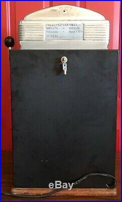 Jennings Sweepstake Chief Las Vegas Casino Dime Slot Machine Red / Lighted