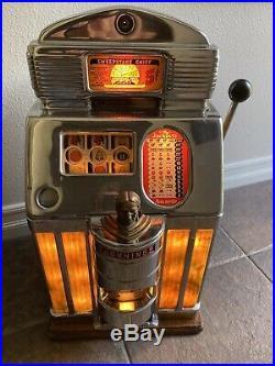 Jennings Sweepstake Chief Las Vegas Casino Nickel Slot Machine Sun Chief Yellow