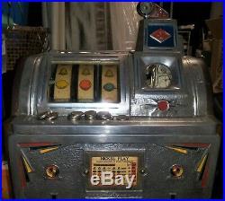 Jennings Victoria B Silent Bell Nickel Antique Slot Machine