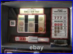 Jennings Vintage 1970s Chief $1 Slot Machine PICKUP ONLY