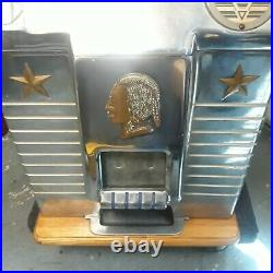 Jennings slot machine Bronze Chief Vintage, Antique, works great early 40s