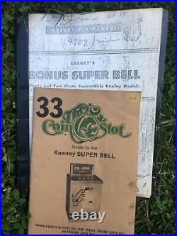 Keeney Super Bell Three Way Slot Machine