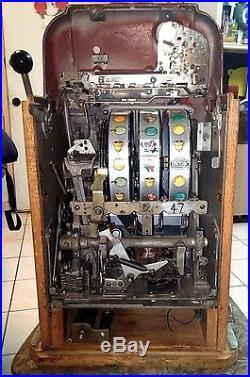 L@@K! Vintage MILLS 1950's/1960's Antique High Top 5 Cent Nickel Slot Machine
