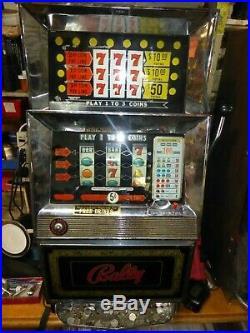 LOT OF 3 Vintage Bally token slot machineS