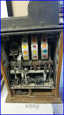 Lot of 3 Antique Slot Machines- Mills, Pace, Jennings