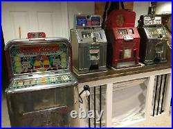 Lot of 4 Jennings Slot Machines Governor Modern Vendor Challenger Tic-Tac-Toe