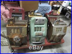 Lot of (6) 1930s/40s Mills Slot Machines (10c & 5c)(Cherry Burst & High Top)