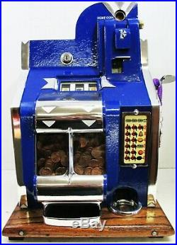 MILLS 1c QT Chevron Slot Machine circa 1936 fully restored