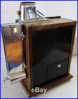 MILLS 1c QT Twenty-One Star Slot Machine circa 1930's with Gum Vender