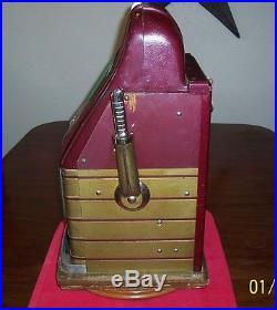 MILLS 5c HIGH TOP BONUS BELL ANTIQUE SLOT MACHINE
