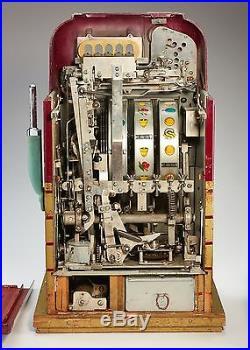 MILLS 5c HIGH TOP BONUS SLOT MACHINE, 1948