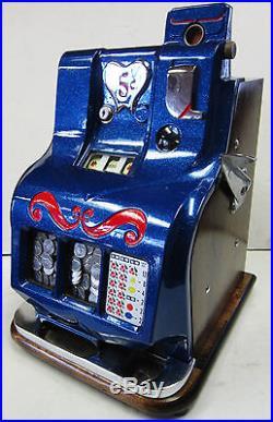MILLS 5c QT Sweetheart Slot Machine circa 1930's