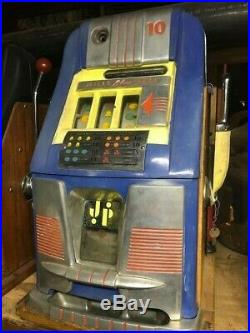 MILLS BLUE BELL SLOT MACHINE 10 cent