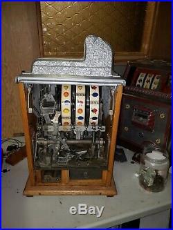 MILLS Castle Front 5 CENT ANTIQUE SLOT MACHINE