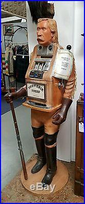 Mills General George Custer 25 Cent Figure Slot Machine