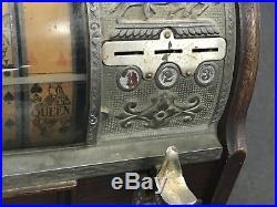 MILLS NOVELTY 10 CENT SLOT MACHINE -RARE Antiques Casino Jockey Card