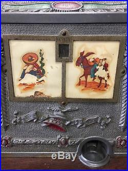 MILLS Slot Machine 5 cent Western Circa 1925