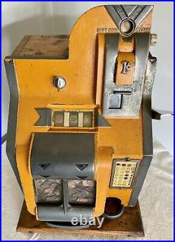MIlls 1c QT Chevron Slot Machine 1930s Era. All Original & Working