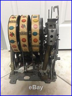 Mechanism Antique Slot Machine 5 Cent EXTRA NICE N CLEAN Condition