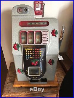 Mills 10 Cent Black Cherry Slot Machine Nice Unrestored Original