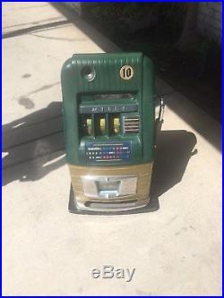 Mills 10 Cent Hi Top Slot Machine Unrestored Original