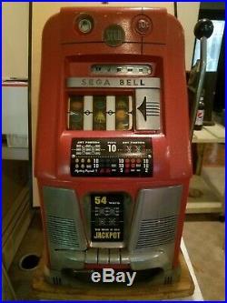 Mills 10 Cent Sega Bell Coin Op Hi Top Slot Machine Wjackpot As Good As They Get