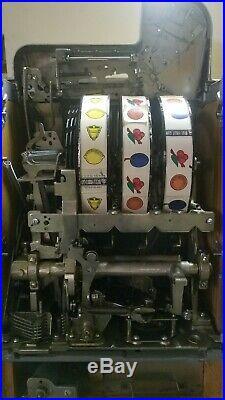 Mills 10 Cent War Eagle Coin Op Slot Machine Wjackpot