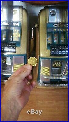 Mills 10 cent 777 hi-top antique slot machine