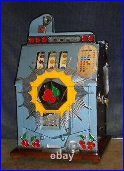 Mills 10-cent BURSTIN' CHERRY antique slot machine, 1941