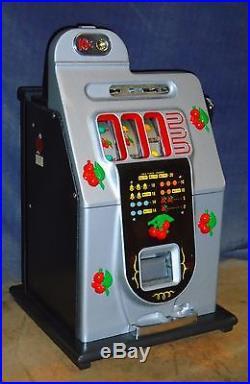 Mills 10c BLACK CHERRY antique slot machine, ca 1946, with prod regis & manual