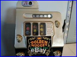 Mills 25 Cent Antique Slot Machine Golden Nugget Vintage slot machine