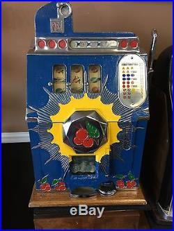 Mills 25 Cent Bursting Cherry Slot Machine With Replacement Key
