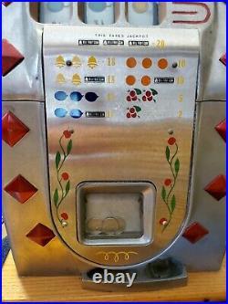 Mills 25 Cent Slot Machine Early 1940s Working Antique Quarter Slot Machine