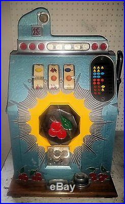 Mills 25 cent Bursting Cherry Slot Machine withSerial Number