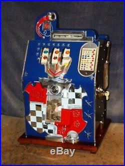 Mills 25-cent HAND-LOAD JACKPOT CASTLE FRONT antique slot machine, 1938