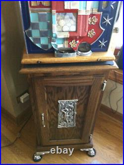 Mills 25-cent HAND operated JACKPOT CASTLE FRONT antique slot machine, 1938
