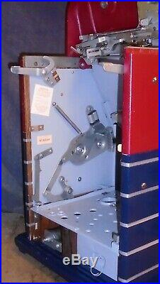 Mills 25-cent JEWEL BELL hi-top antique slot machine, 1947