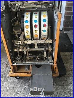 Mills 5 CENT ORIGINAL RARE BLUE BELL HI-TOP ANTIQUE SLOT MACHINE FREE SHIPPING