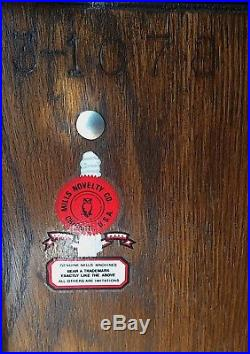 Mills 5 Cent Black Cherry Slot Machine 1947 Natural Wood Sides