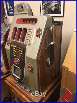 Mills 5 Cent Black Cherry Slot Machine Unrestored Original