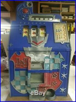 Mills 5 Cent Castle Front Coin Op Slot Machine Wjackpot Original Door Lock Key