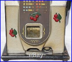 Mills 5 Cent Cherry Front Antique Slot Machine Works Great All Original