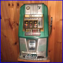 Mills 5 Cent Hi Top Slot Machine Unrestored Original