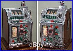 Mills 5 Cent Poinsettia Antique Slot Machine